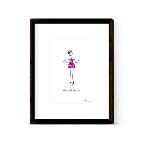 """LITTLE BALLERINA: PINK PRINCESS"" ART PRINT"