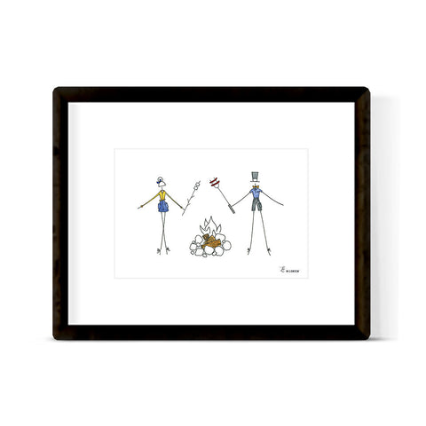 """HAPPY CAMPERS"" ART PRINT"
