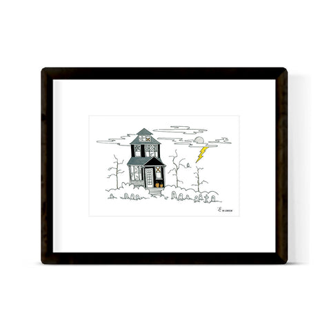 """HAUNTED HOUSE"" ART PRINT"