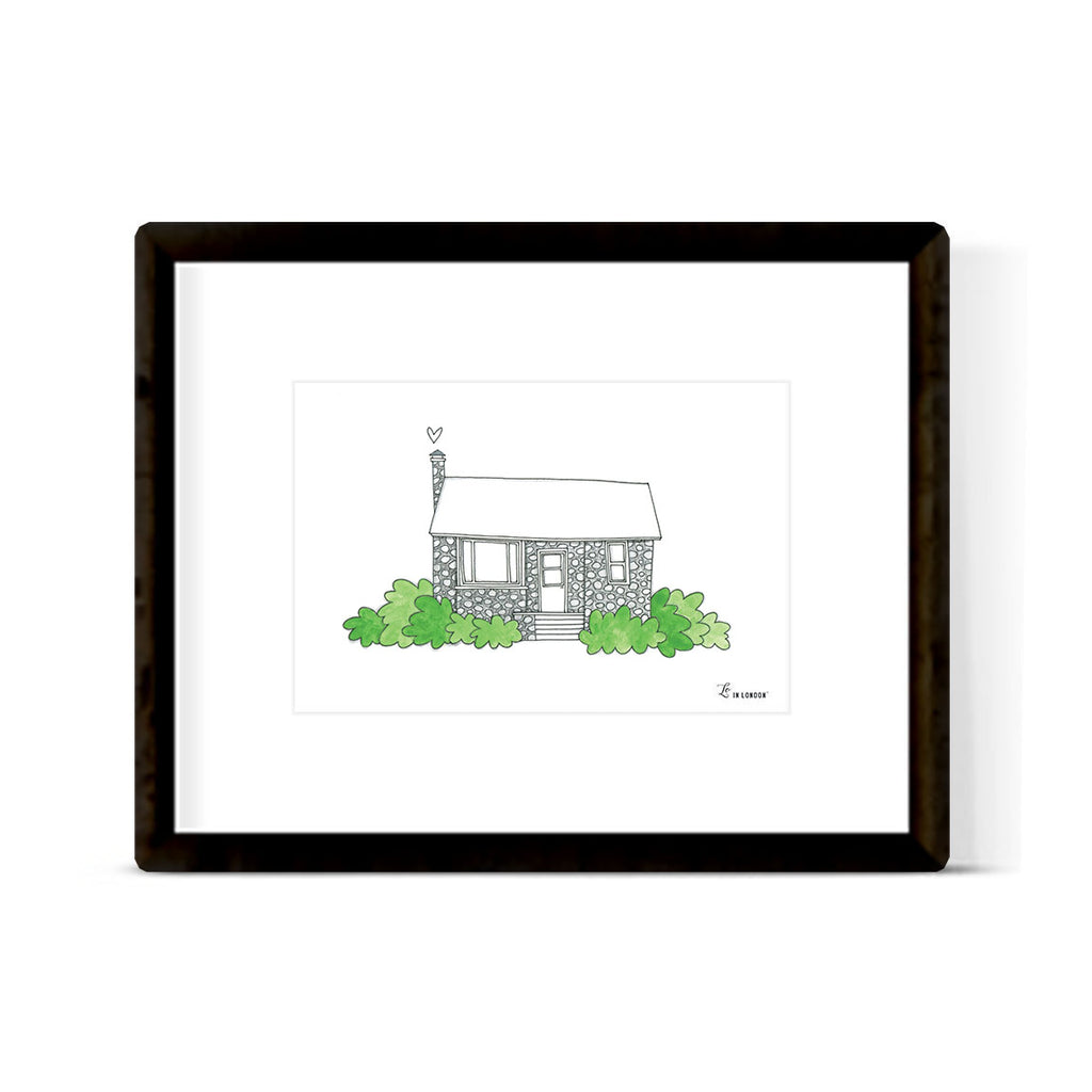 """COUNTRY COTTAGE"" ART PRINT"
