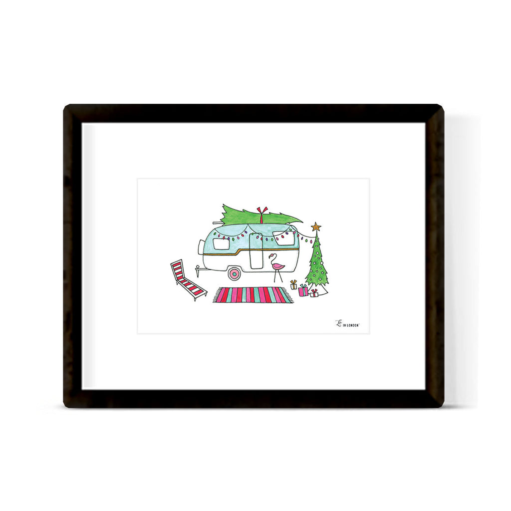 """HAPPY CAMPER"" ART PRINT"