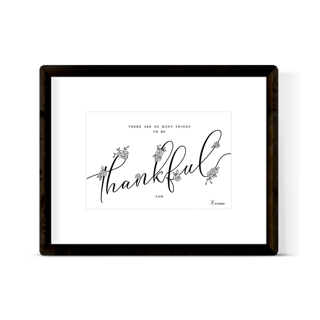 """THANKFUL"" ART PRINT"