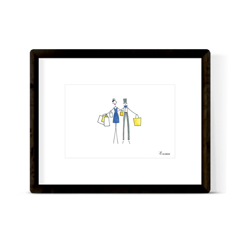 """SUPER SHOPPERS"" ART PRINT"