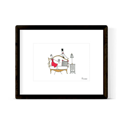 """GOLF CART"" ART PRINT"