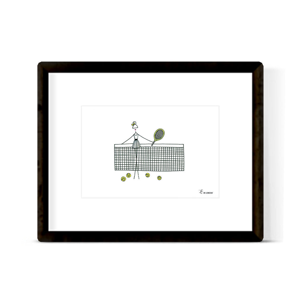 """TENNIS: MISSES"" ART PRINT"