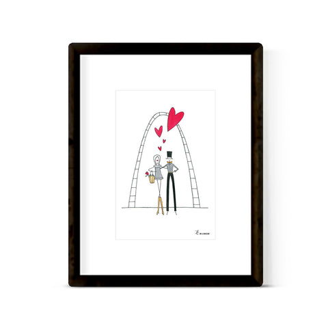 """LOVE UNDER THE ARCH"" ART PRINT"