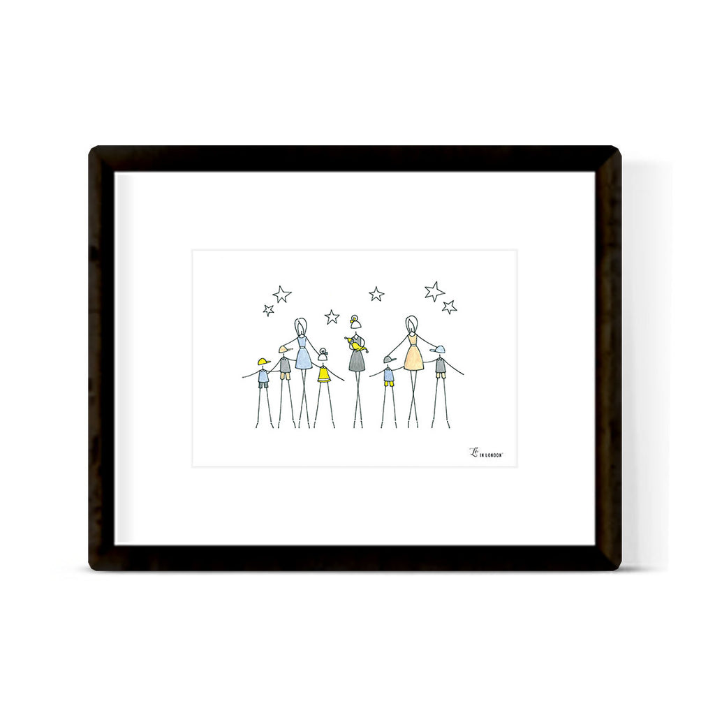 """IT TAKES A VILLAGE"" ART PRINT"