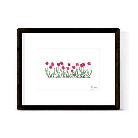 """TULIPS IN BLOOM"" ART PRINT"