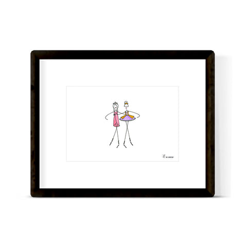 """SUGAR PLUM FAIRY & CLARA"" ART PRINT"
