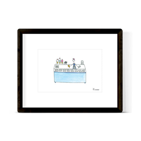 """ICE CREAM COUNTER"" ART PRINT"