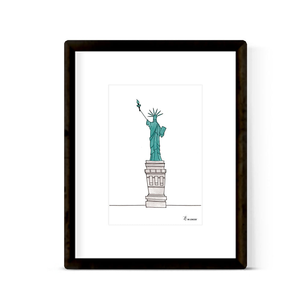 """LADY LIBERTY"" ART PRINT"