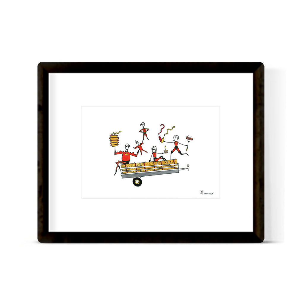 """A SUPER FALL RIDE"" ART PRINT"
