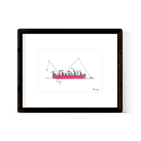 """CHRISTMAS CANOE"" ART PRINT"