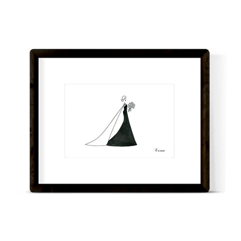 """BLACK DRESS BEAUTY"" ART PRINT"