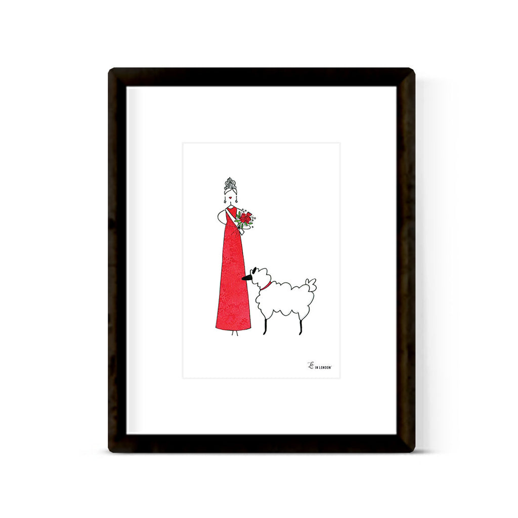 """BEAUTY QUEEN & LAMBY"" ART PRINT"