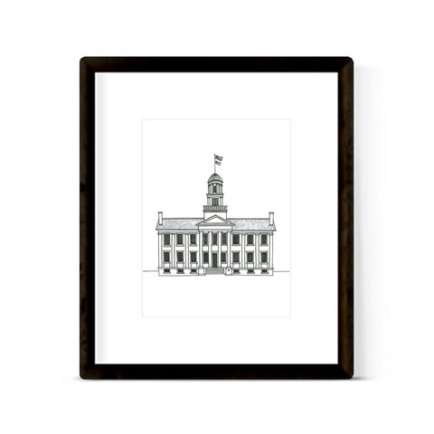"""UNIVERSITY OF IOWA"" ART PRINT"