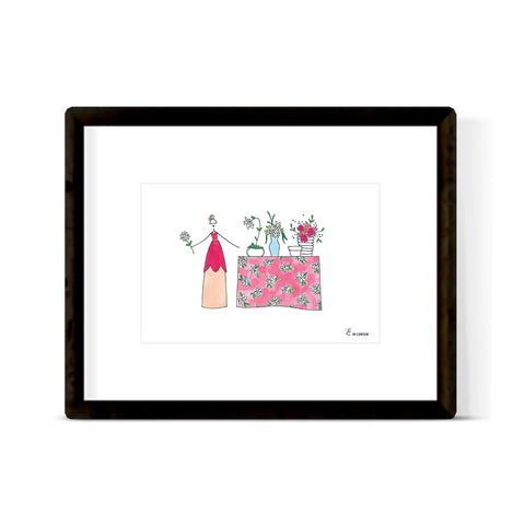 """MARTINIS & MISTLETOE"" ART PRINT"