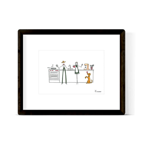 """COWBOY IN THE KITCHEN"" ART PRINT"
