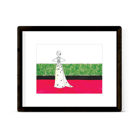 """THE RED CARPET: GOLDEN GLOBES 2017, EMMA STONE"" ART PRINT"