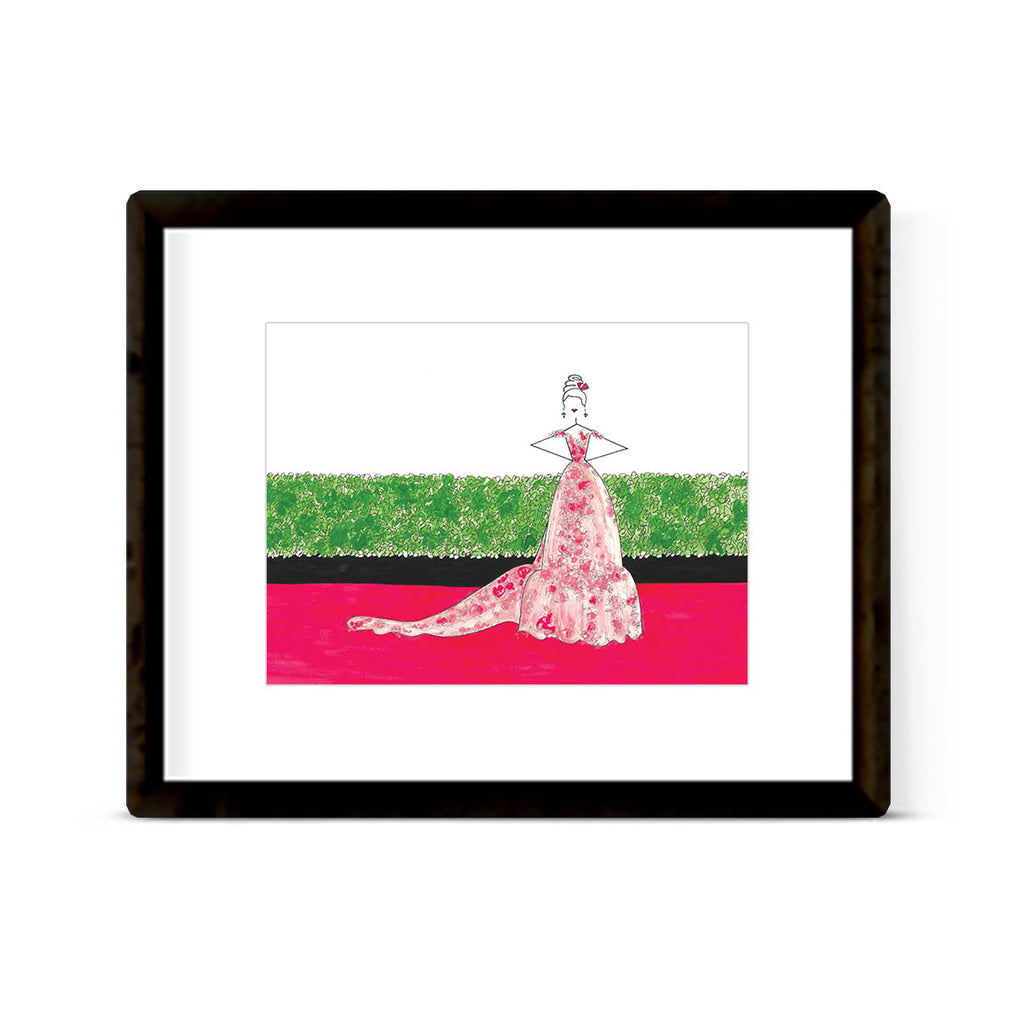 """THE RED CARPET: GOLDEN GLOBES 2017, LILY COLLINS"" ART PRINT"