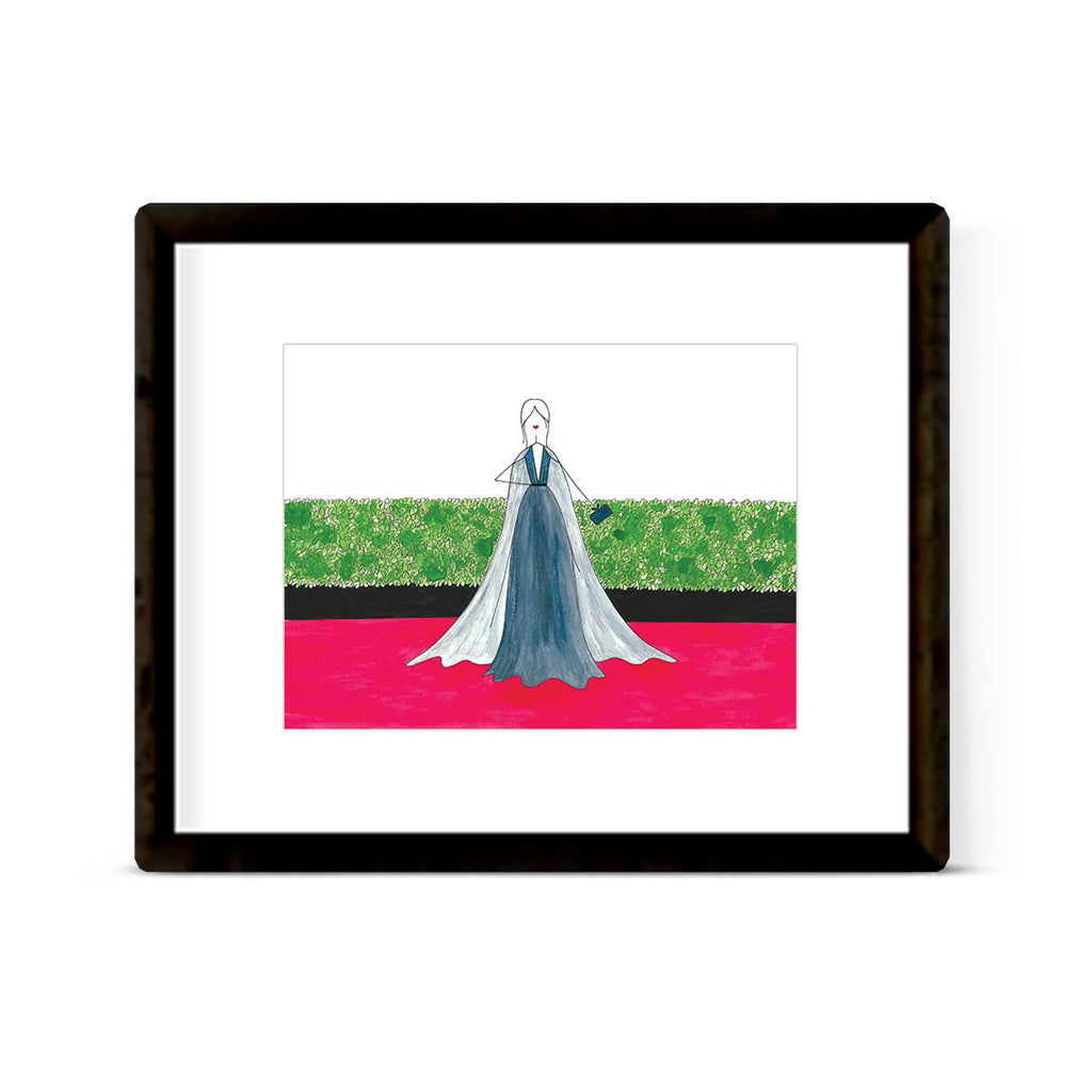 """THE RED CARPET: GOLDEN GLOBES 2017, MANDY MOORE"" ART PRINT"