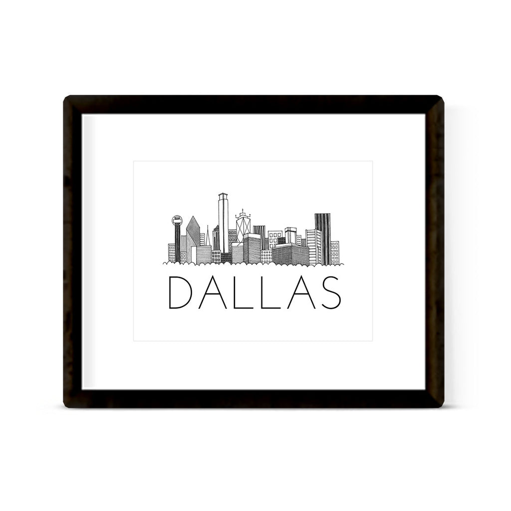 """DALLAS SKYLINE"" ART PRINT"
