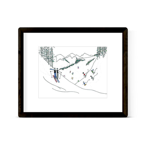 """ON THE SLOPES"" ART PRINT"