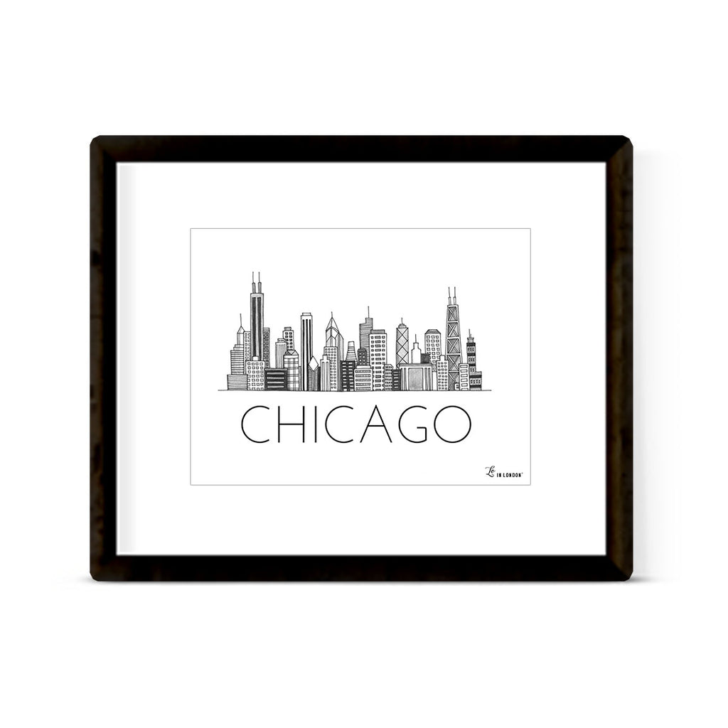 """CHICAGO SKYLINE"" ART PRINT"