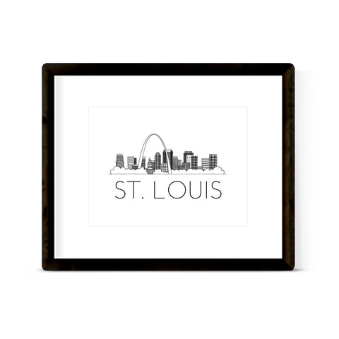"""ST. LOUIS SKYLINE"" ART PRINT"