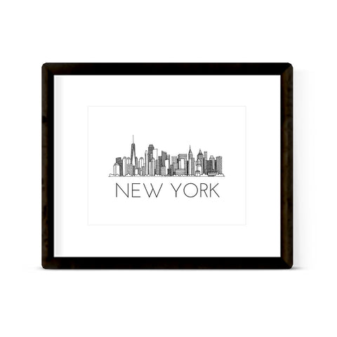 """NEW YORK SKYLINE"" ART PRINT"