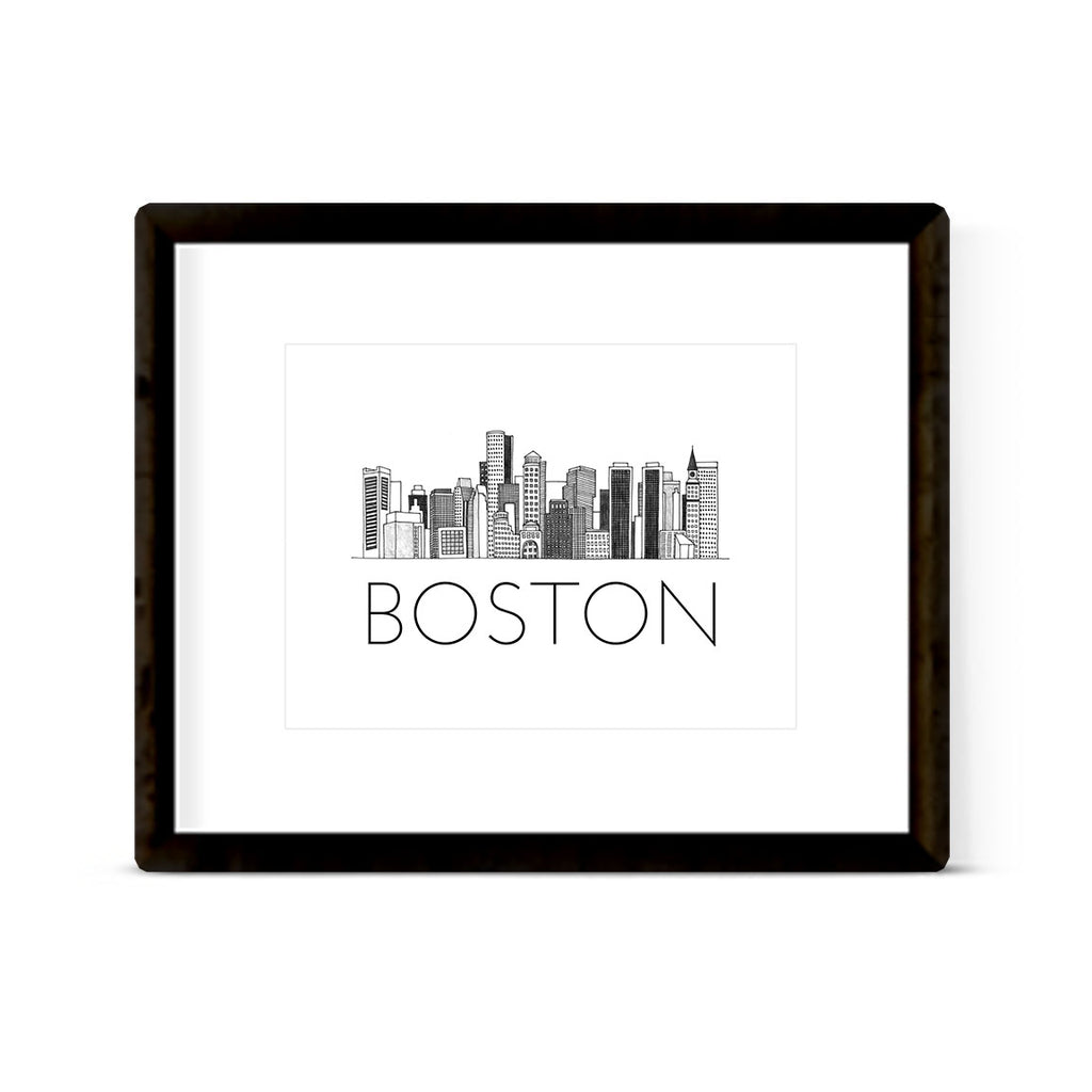 """BOSTON SKYLINE"" ART PRINT"