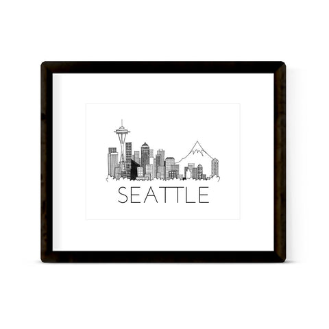 """SEATTLE SKYLINE"" ART PRINT"
