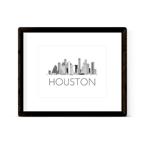 """HOUSTON SKYLINE"" ART PRINT"