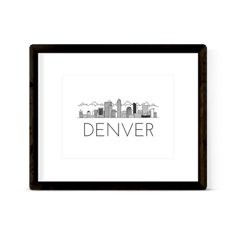"""DENVER SKYLINE"" ART PRINT"