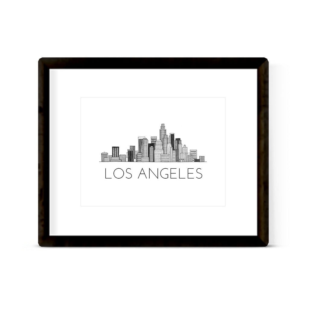 """LOS ANGELES SKYLINE"" ART PRINT"