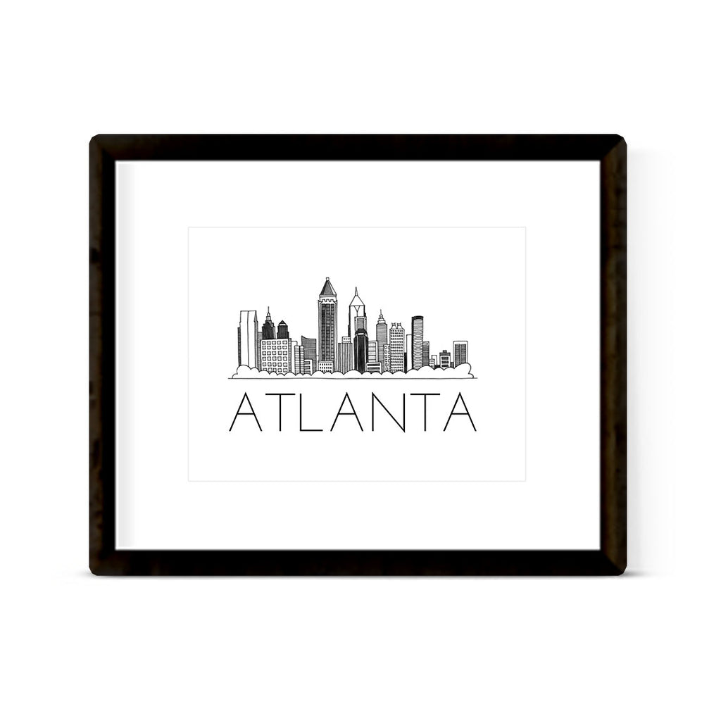 """ATLANTA SKYLINE"" ART PRINT"