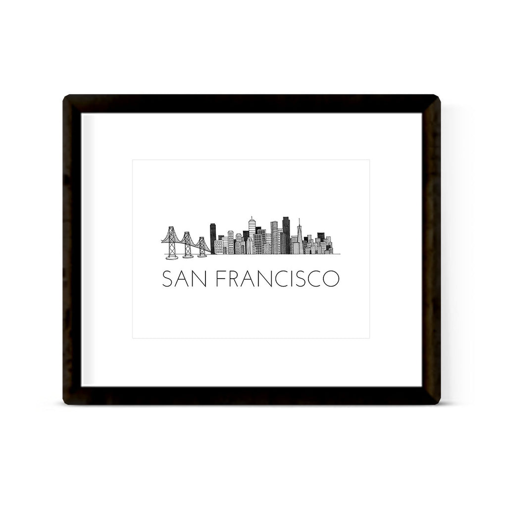 """SAN FRANCISCO SKYLINE"" ART PRINT"