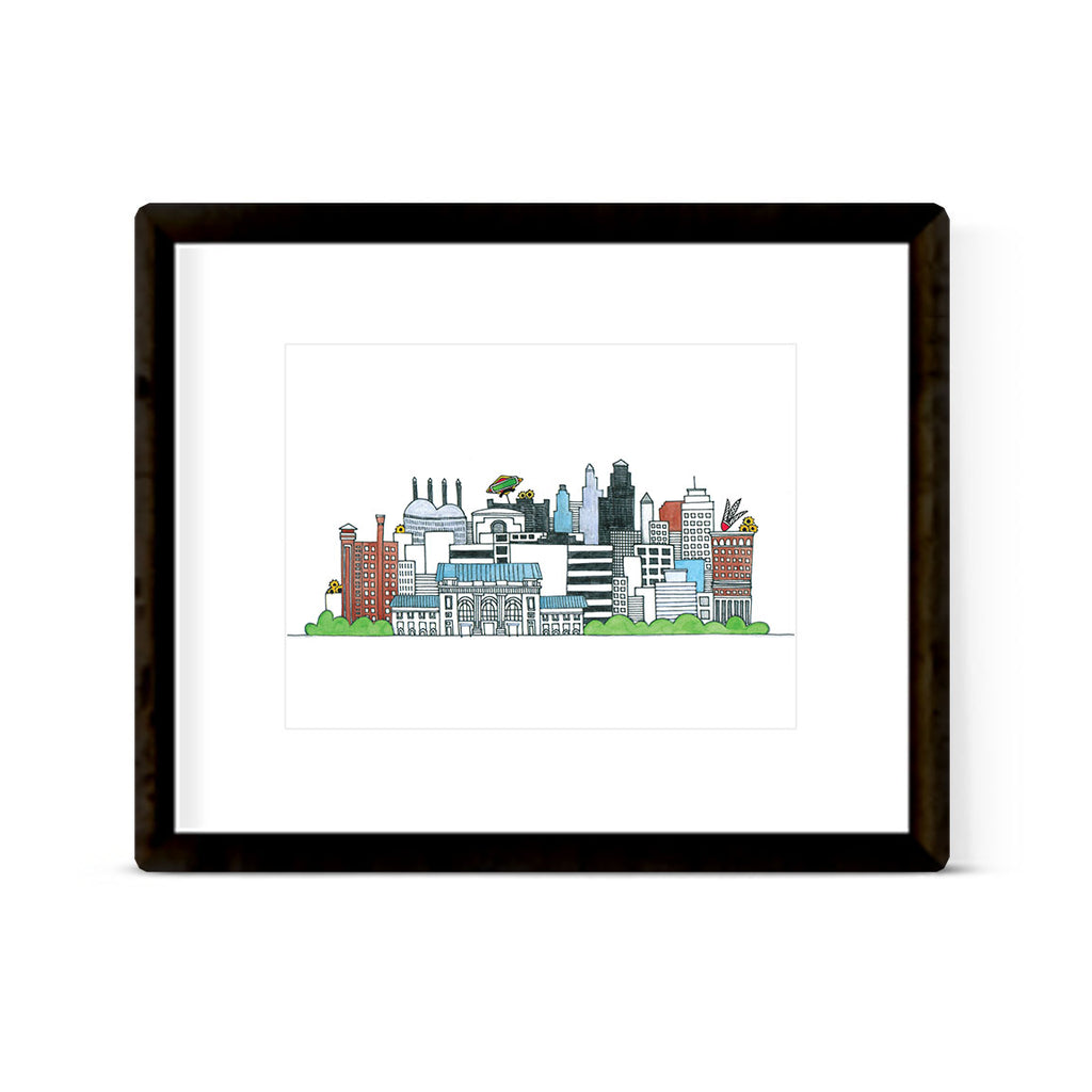 """COLORFUL KANSAS CITY"" ART PRINT"
