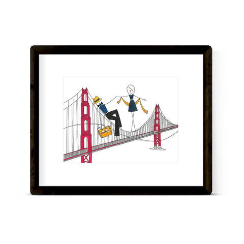 """BAY AREA BRIDGE"" ART PRINT"