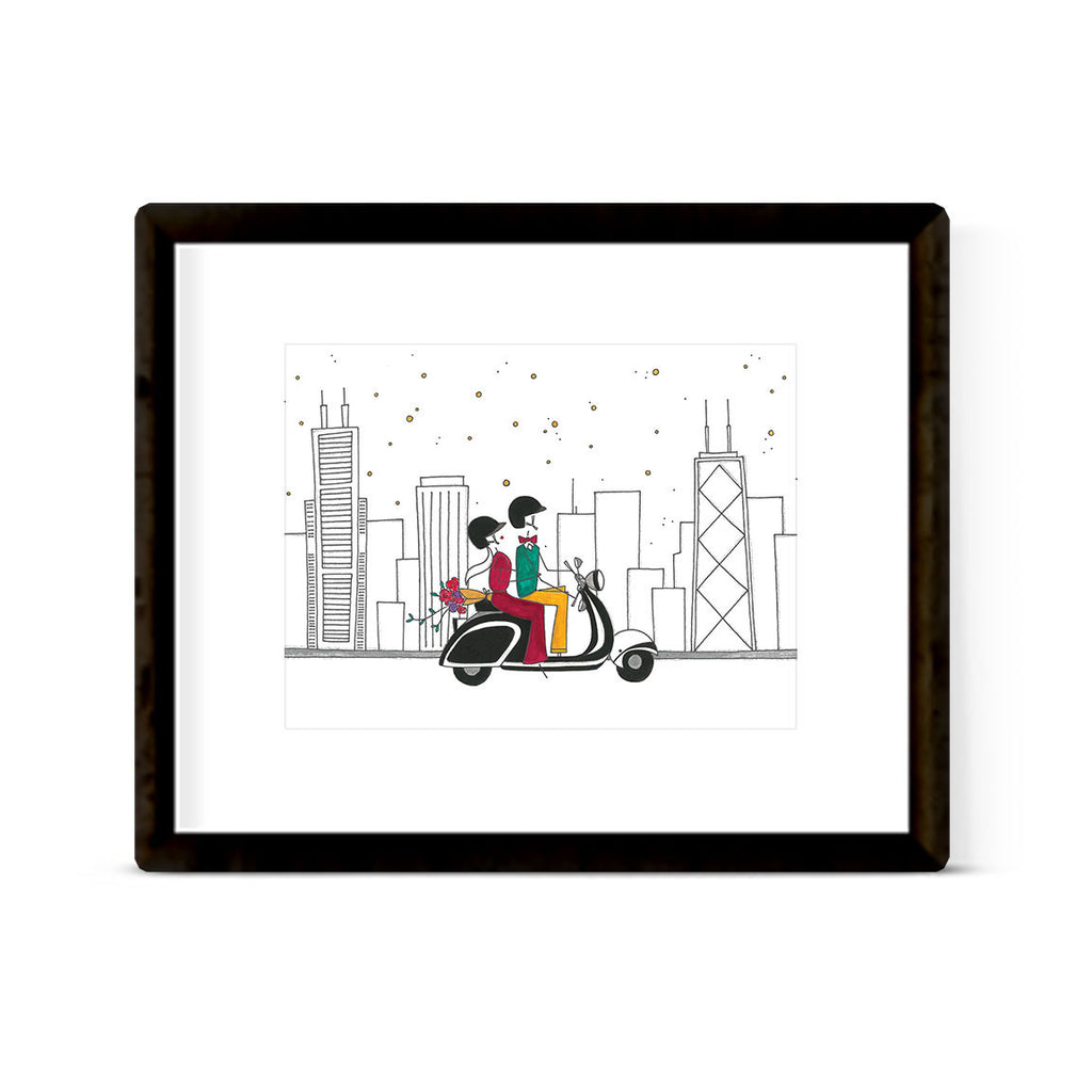 """CHICAGO CRUISING"" ART PRINT"