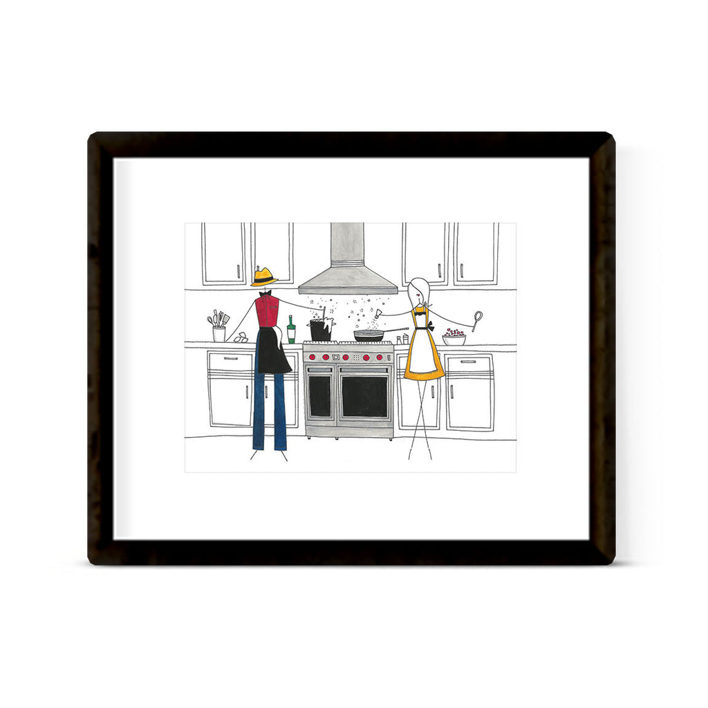 """IN THE KITCHEN: MISTER MISSES"" ART PRINT"