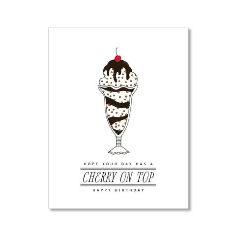 """CHERRY ON TOP"" BIRTHDAY CARD"