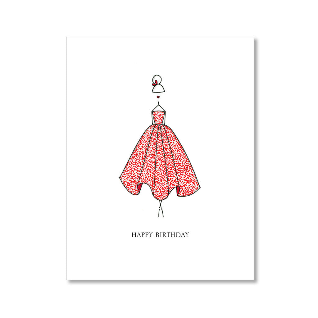 """THE RED DRESS"" BIRTHDAY CARD"