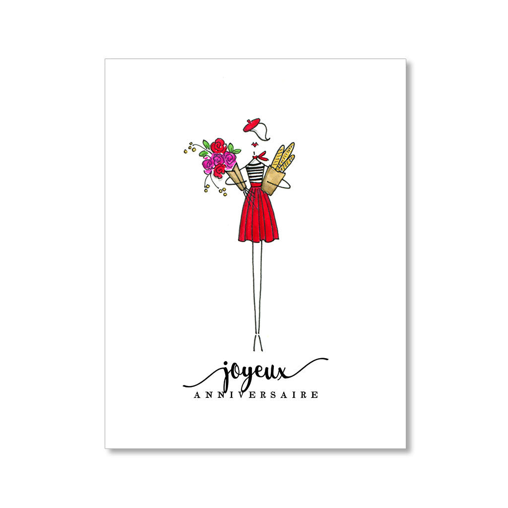 """THE FRENCH GIRL"" BIRTHDAY CARD"