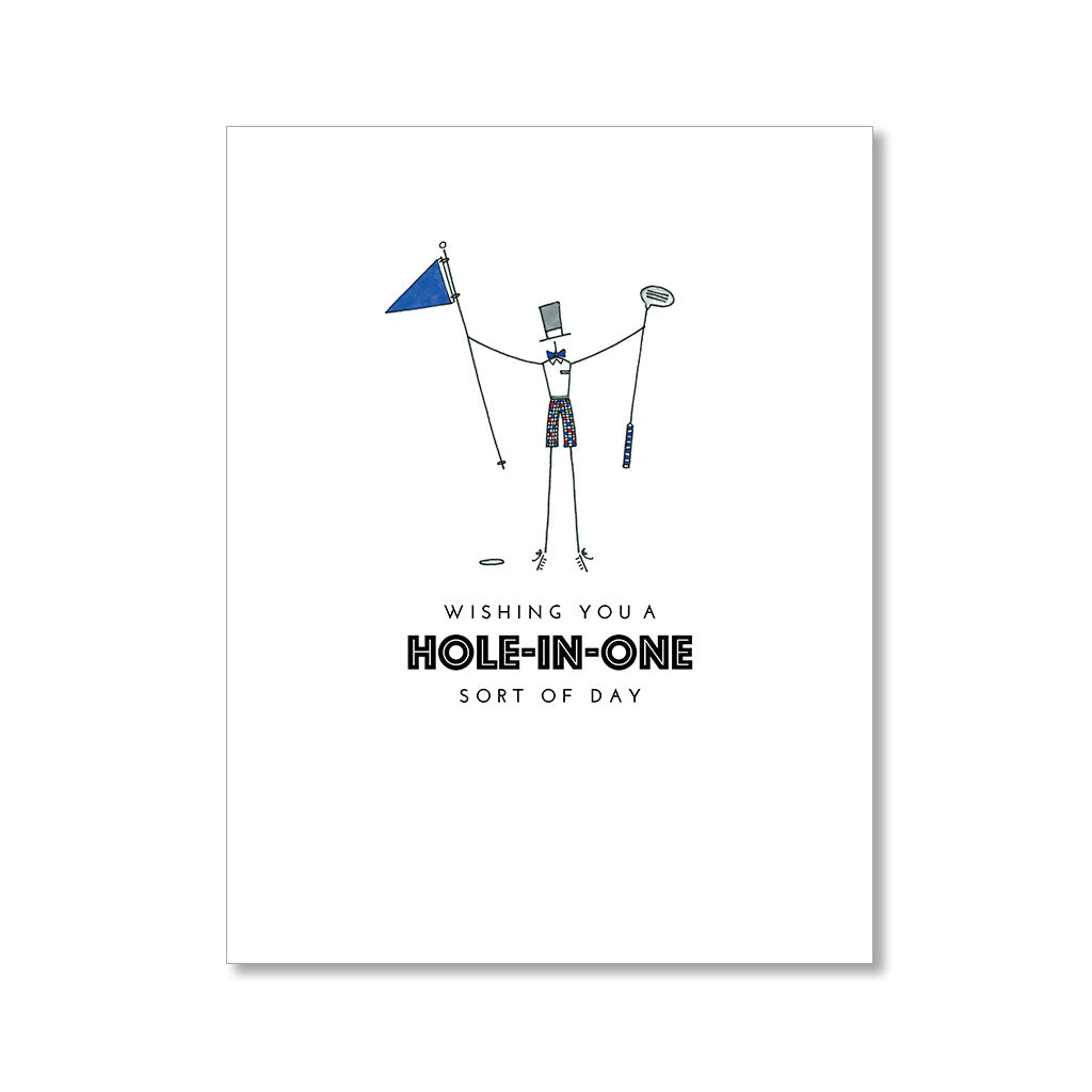 """HOLE-IN-ONE: MISTER"" BIRTHDAY CARD"