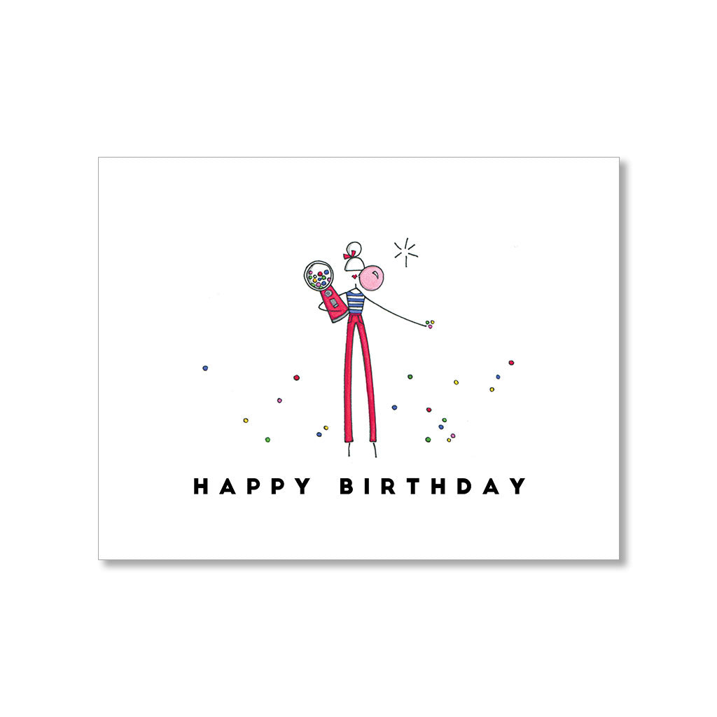 """GUM BALL"" BIRTHDAY CARD"