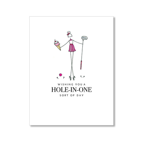 """HOLE-IN-ONE: MISSES"" BIRTHDAY CARD"