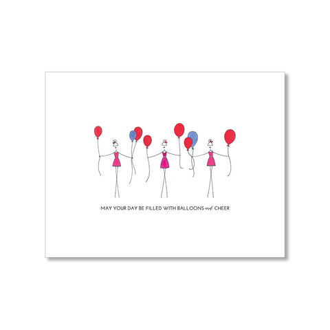 """BIRTHDAY BALLOONS"" BIRTHDAY CARD"