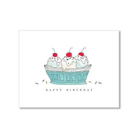 """BANANA SPLIT"" BIRTHDAY CARD"