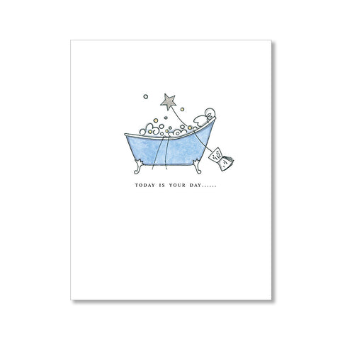"""BUBBLE BATH"" BIRTHDAY CARD"